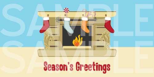 Season's Greetings Printable Card