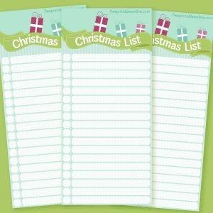Blue and Green Christmas Wish List