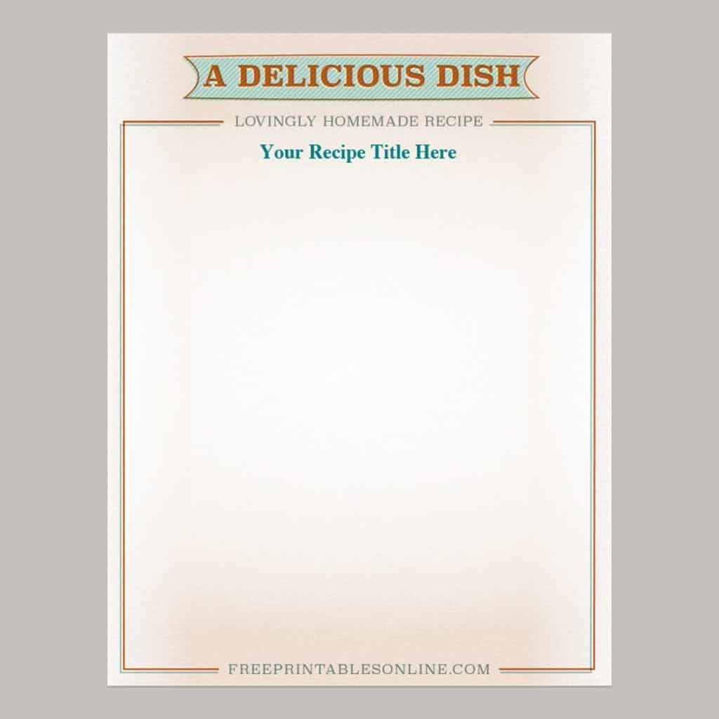Retro Treated Recipe Page