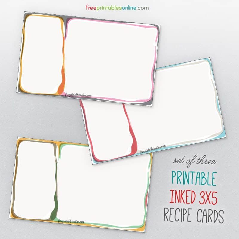 Inked Some Free 3x5 Recipe Card Templates