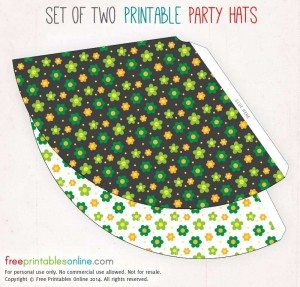Retro 60s Printable Party Hats