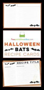Free Halloween Recipe Cards