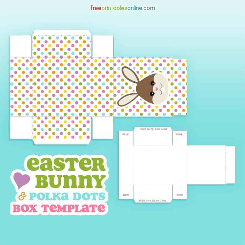 free easter bunny box template free printables online