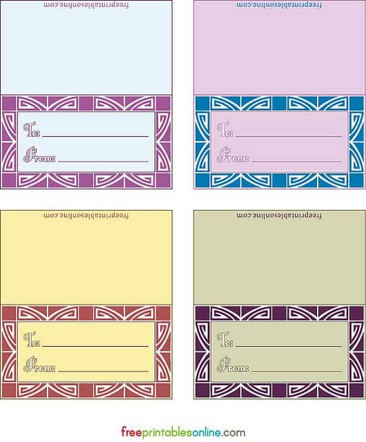 geo deco blank gift tag template to print
