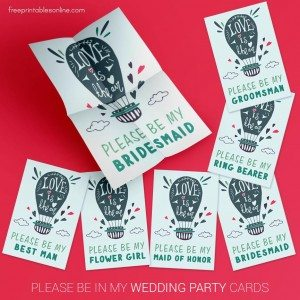 Please Be in My Wedding Party Cards