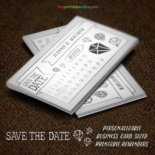 Personalized Save the Dates