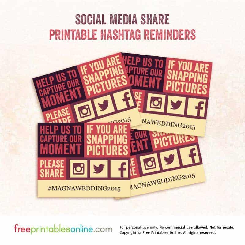 Hashtag Wedding Cards