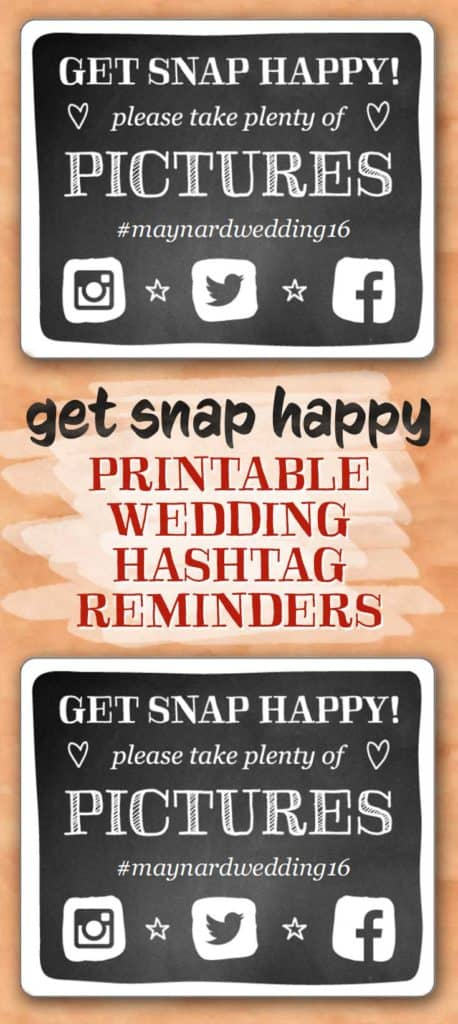 Get Snap Happy Hashtag Cards