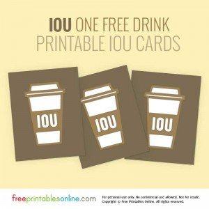 Printable IOU Vouchers