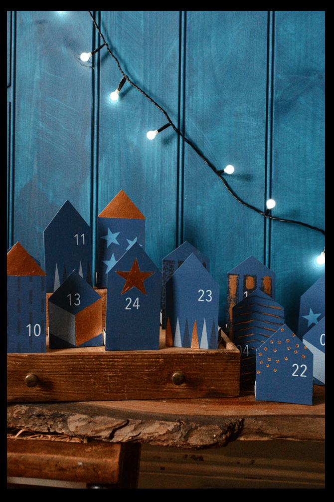 DIY Little Houses Advent Calendar