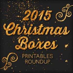 2015 Free Printable Christmas Boxes