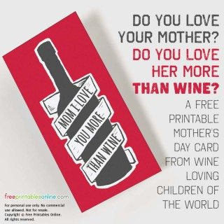 I Love You More Than Wine Card