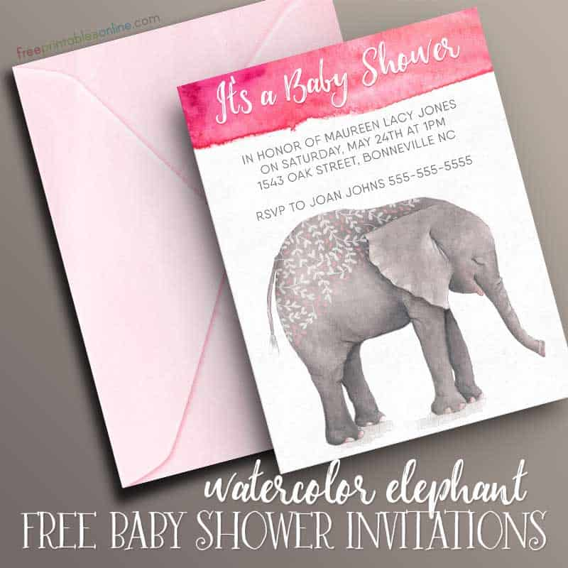 Cute Printable Baby Shower Invitation