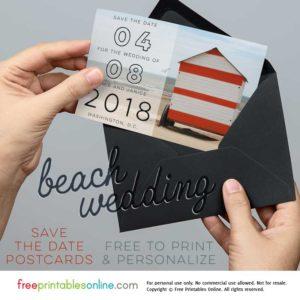 Beach Wedding Save the Date