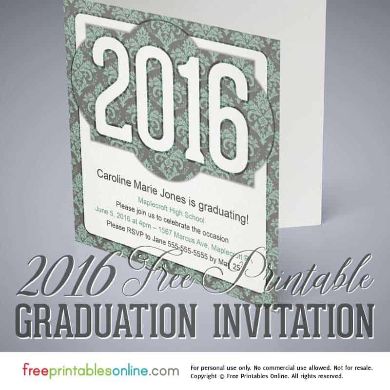 victorian printable 2016 graduation invitation free printables online
