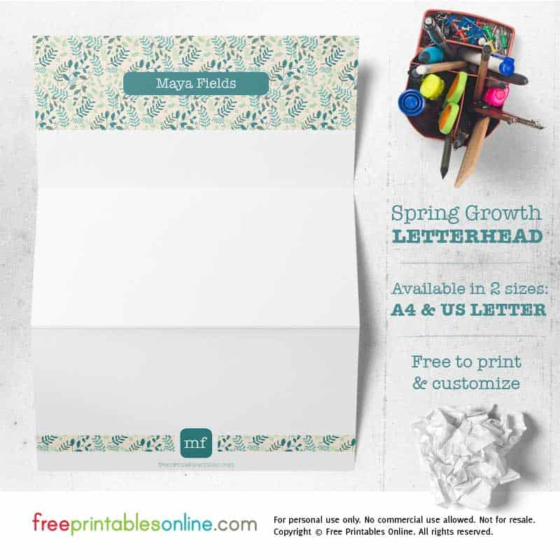 Free Personalized Printable Letterhead