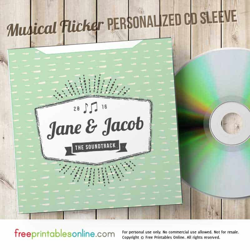 Free Personalized CD Envelope
