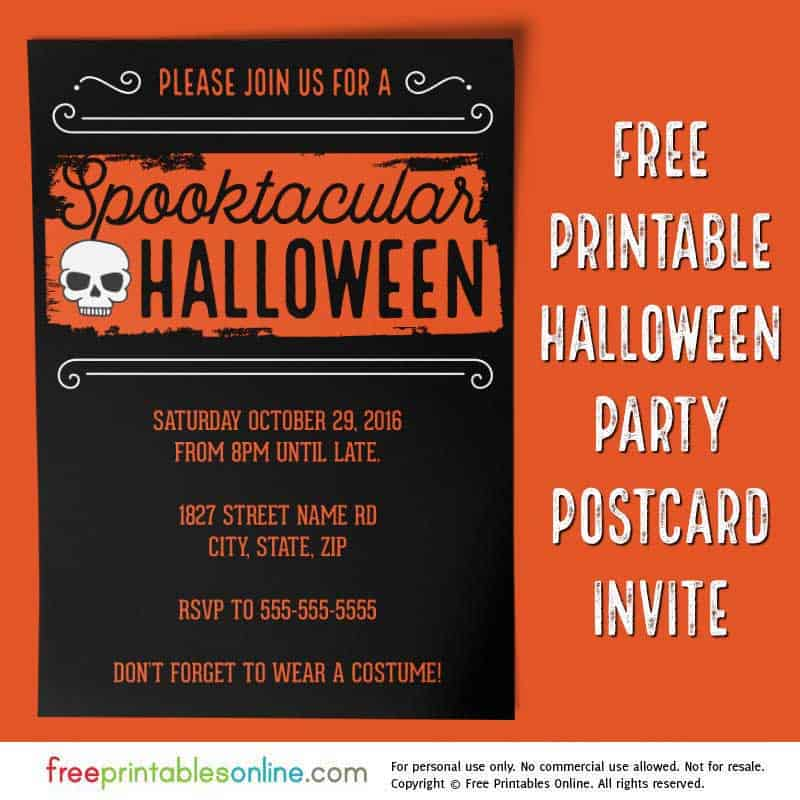 spooktacular 2016 halloween party invitation free printables online