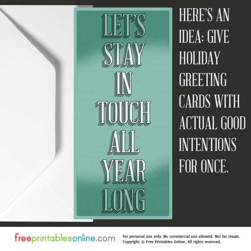 Stay in Touch Greeting Card