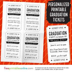 Vintage Barrel Graduation Party Tickets