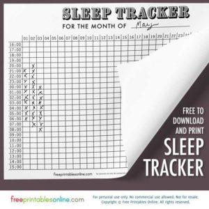 Antique Graph Sleep Tracker