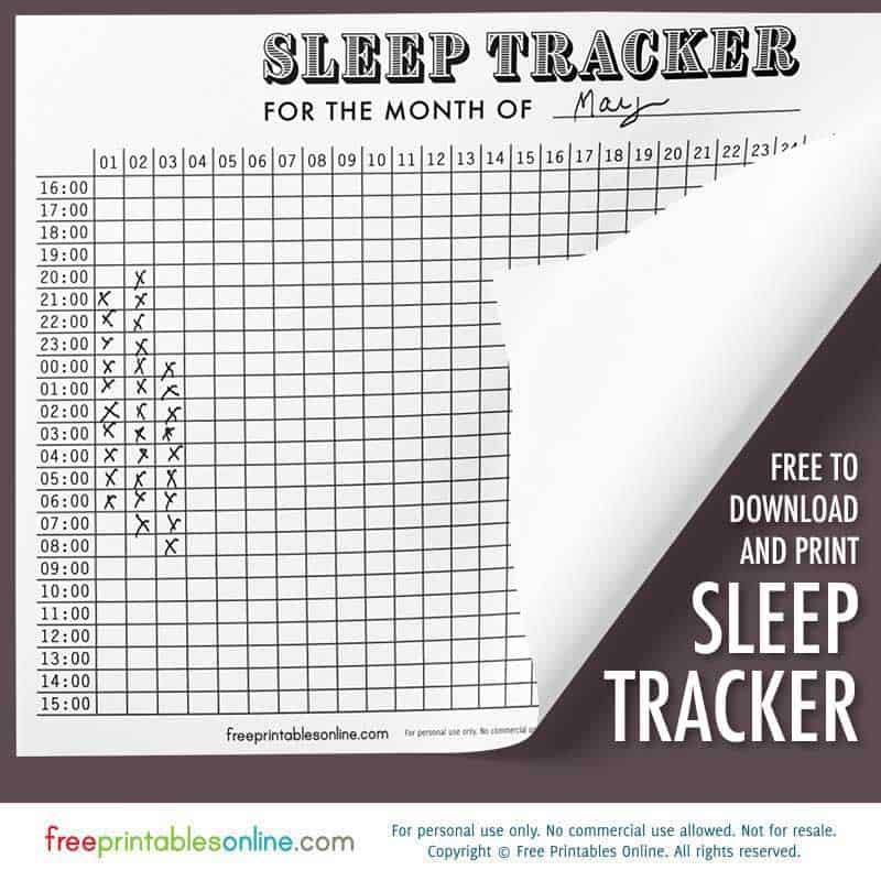 Antique Graph Sleep Tracker