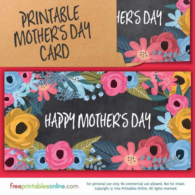 Happy Mother's Day Card to Print