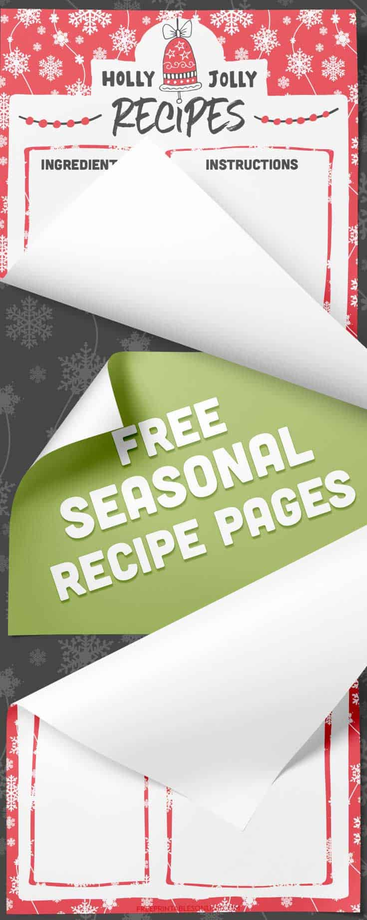 Holly Jolly Printable Christmas Recipe Pages – Free Printables Online