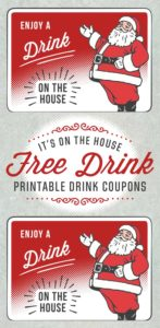 Santa Holiday Drink Ticket Template