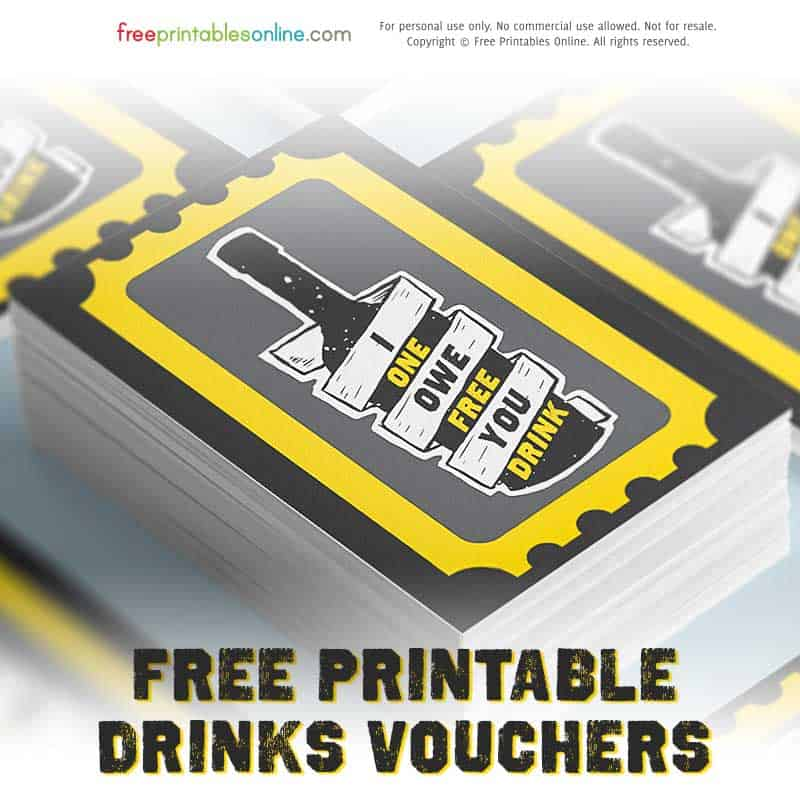 Print Drink Tickets for parties