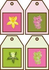 Spring in Session Floral Gift Tags