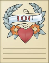 Retro Tattoo I.O.U. Coupon