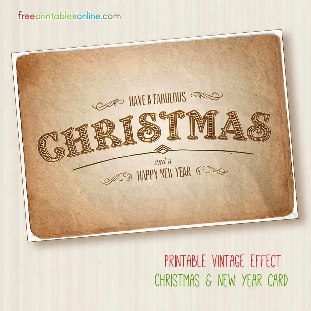 Fabulous Free Printable Vintage Christmas Card