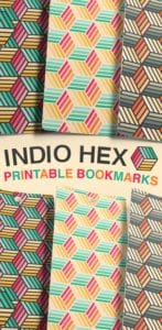 Free Printable Indio Hex Bookmarks