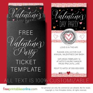 Valentine's Day Party Invitation Template