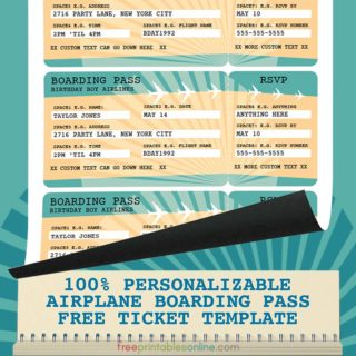 Airline Boarding Pass Template