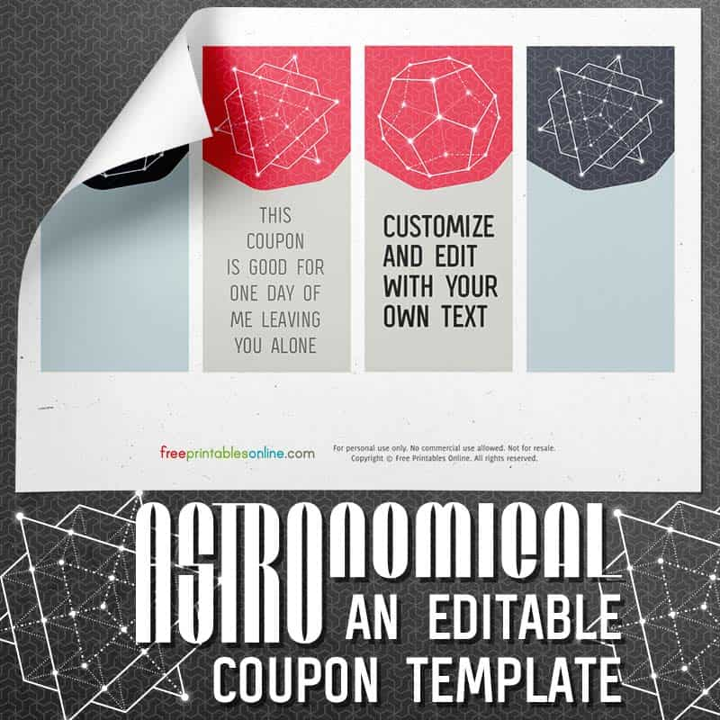 Astronomical Editable Coupon Template