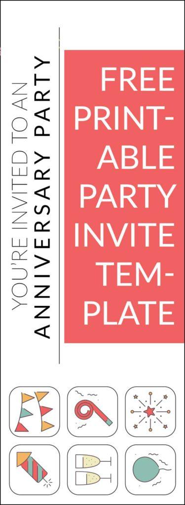 Iconic Anniversary Party Invites