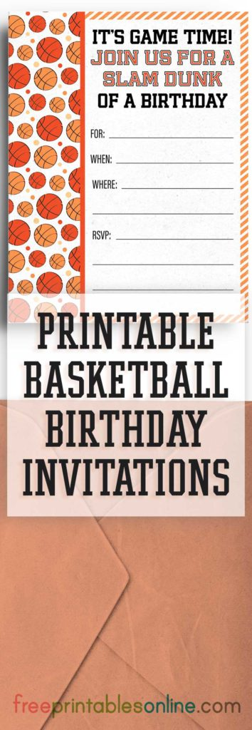 basketball birthday party invitation