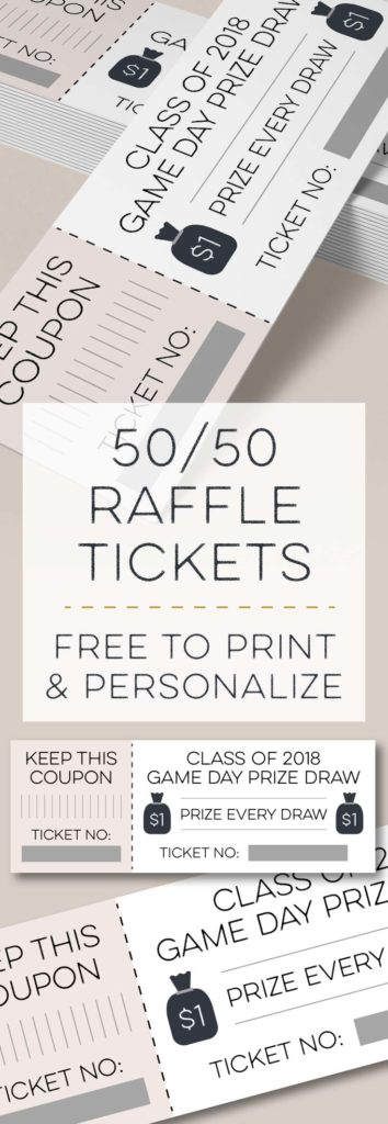 Printable Fifty Fifty Raffle Tickets