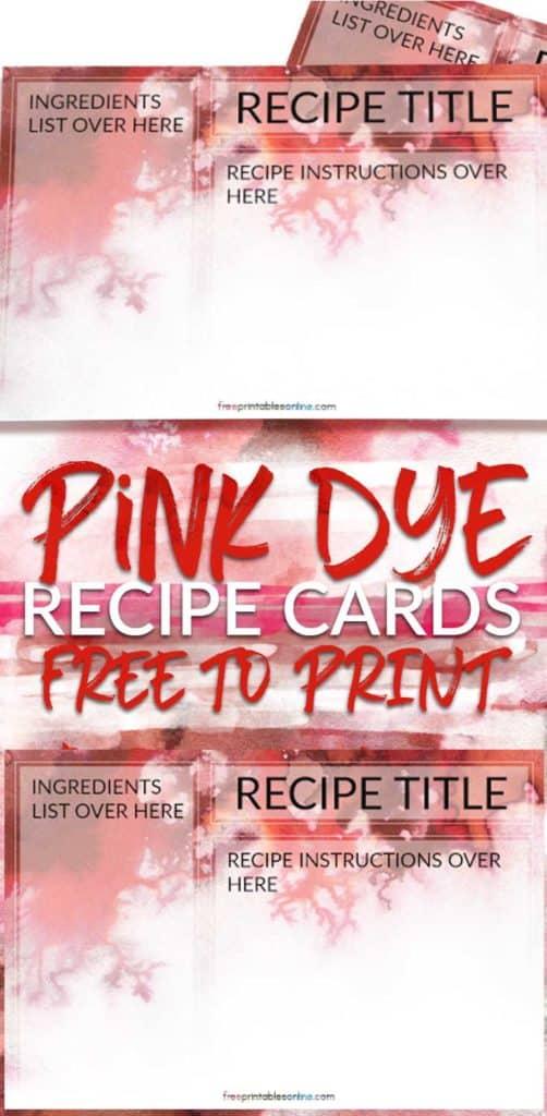 Free Printable 4x6 Recipe Cards