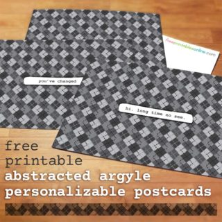 Abstracted Argyle Personalized Postcard