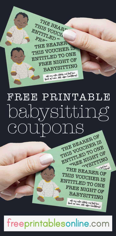 Cute Onesie Free Babysitting Voucher - Free Printables Online