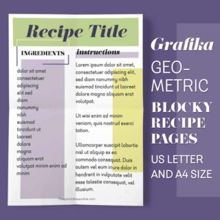 Grafika Recipe Pages to Print