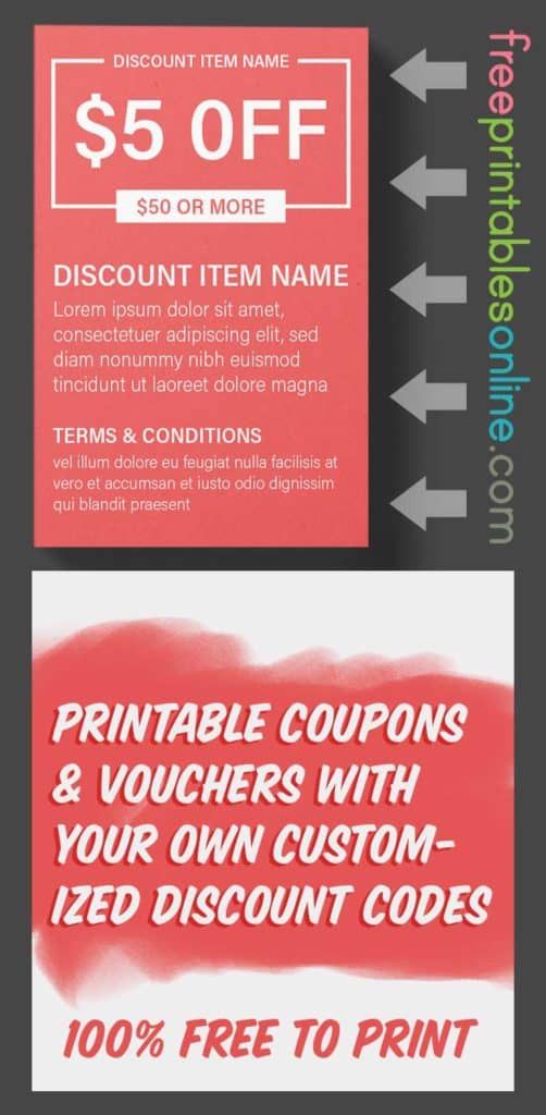 Printable Money Off Coupons