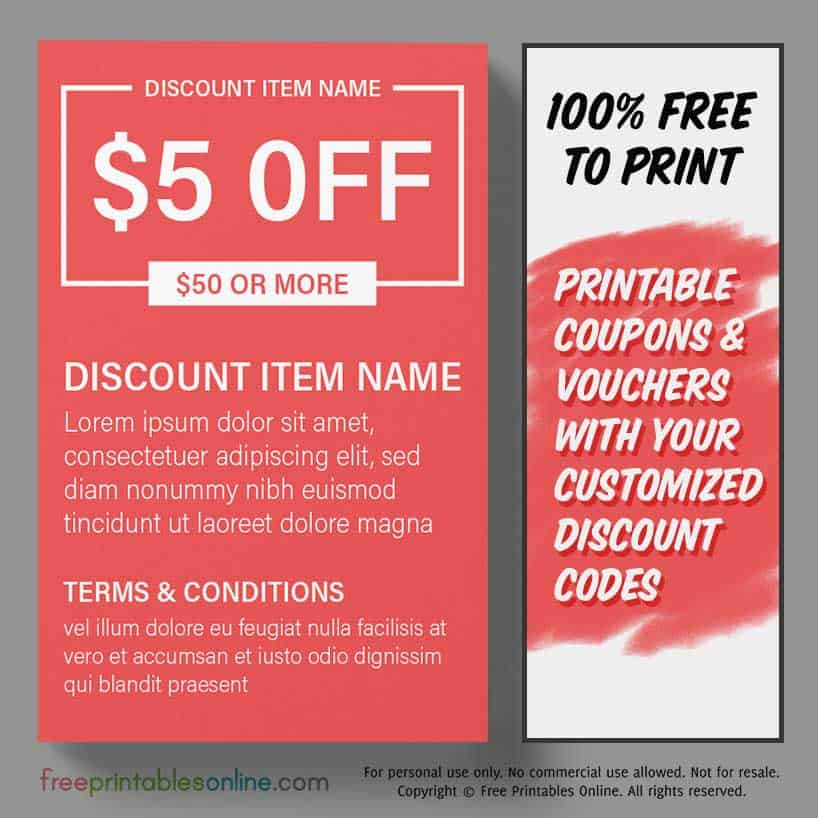 Free Printable Money Off Coupons