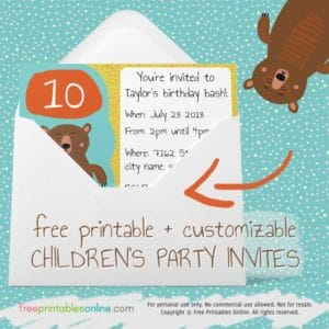 birthday party invitations archives free printables online