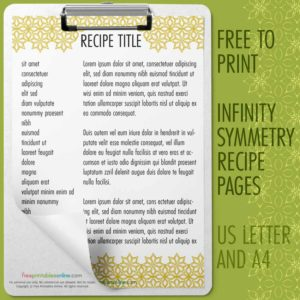 Infinity Symmetry Recipe Pages