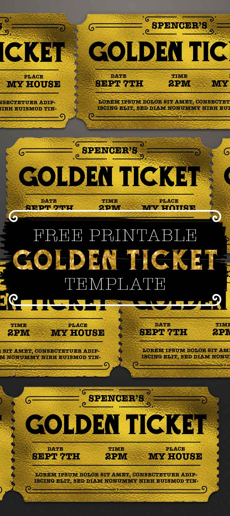 Printable Golden Ticket Template