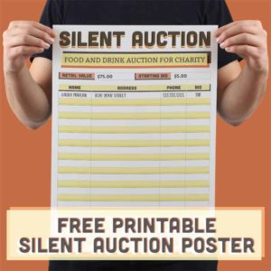 A3 Silent Auction Poster